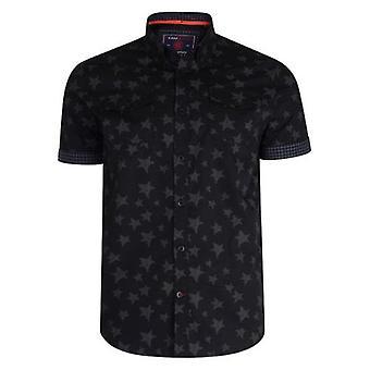 Kam Jeanswear Star Print Short Sleeve Shirt