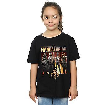 Star Wars jenter Mandalorian Character lineup T-skjorte