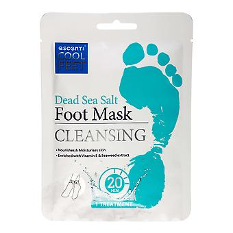 Escenti Cool Feet Fußmaske Socke - Totes Meer Salz