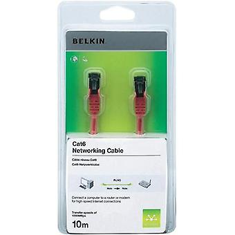 RJ49 Networks Cable CAT 6 S/FTP 10 m Red incl. detent Belkin