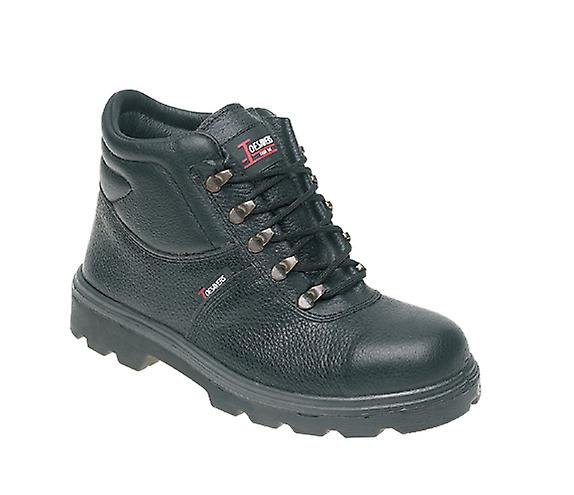 Toesavers Black Leather Safety Boot with Dual Density Sole & Midsole 1400