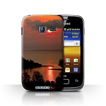 STUFF4 Case/Cover for Samsung Galaxy Y Duos/S6102/Red Sun/Sunset Scenery