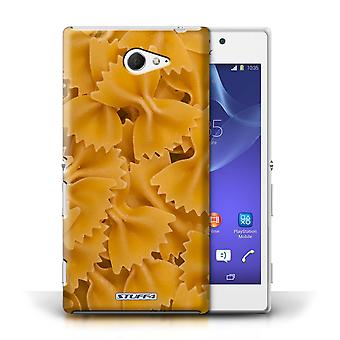 STUFF4 Case/Cover for Sony Xperia M2/Farfalle Pasta/Food