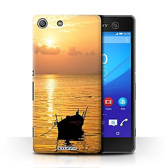 STUFF4 Case/Cover for Sony Xperia M5/Fishing Boat/Sunset Scenery