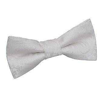 Boy's Ivory Paisley Patterned  Bow Tie