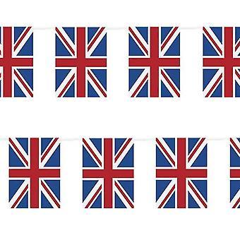 2 x Union Jack Bunting 9metres / 30ft lång med 30 flaggor