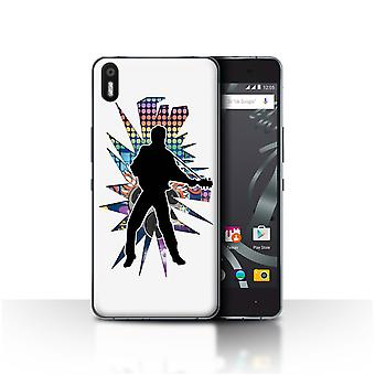STUFF4 Case/Cover for BQ Aquaris X5/Elvis White/Rock Star Pose