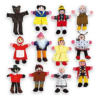Andreu Toys Finger Puppets - 12 Characters (Kids , Toys , Imitation , Drama , Puppets)