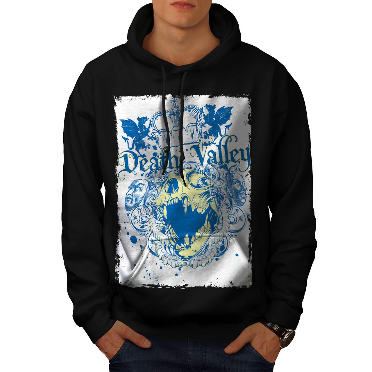 Death Valley Monster Royal Crown mannen zwarte Hoodie | Wellcoda