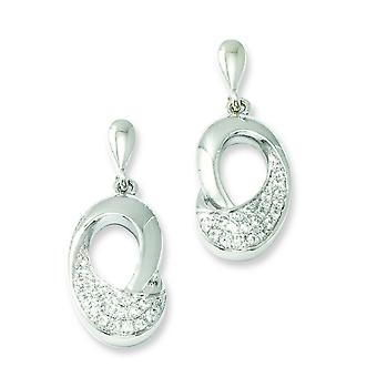 Sterling Silver e Fancy CZ Orecchini Post