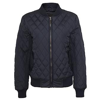 Urban klassikere damer - DIAMOND BOMBER Quilted jakke marinen