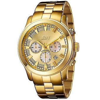 JBW diamond men's stainless steel watch DELANO - gold