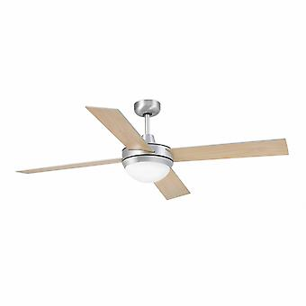 "Faro ceiling fan Menorca aluminium 132 cm / 52"" with lighting"