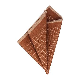 Baldessarini handkerchief Pochette Aztec pattern Brown handkerchief Cavalier cloth