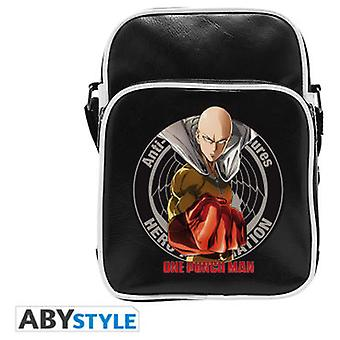 Abysse One Punch Man Messenger Bag Saitama Vinyl Small Size Hook