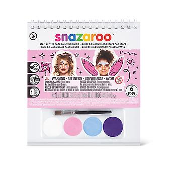 Snazaroo Princess 2 Step A6 Guide Booklet with 4 Face Paints & Brush