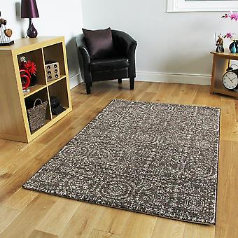 Large Brown Mottled Contemporary Rug Stella