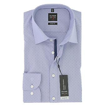 Olympus mens business shirt level 5 violet body fit New York Kent comfort stretch Gr. 41