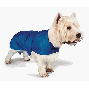 Waterproof Fur Lined Coat Blue 46cm