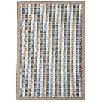 Blå & grå moderne Flatweave tæppe - Floorit
