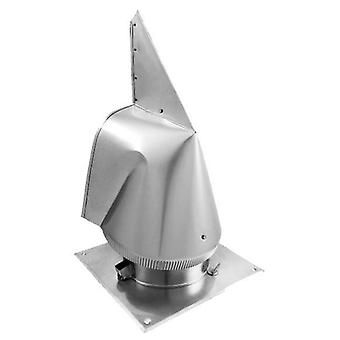 Steel Chimney Cowl Rotowent Various Materials Sizes Square Base 150 400mm