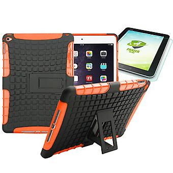 Hybrid outdoor protective case Orange for iPad air 2 bag + 0.4 H9 armoured glass