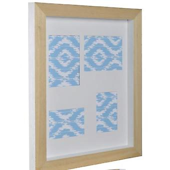 GAD Mix'n'match 4 windows with wooden back in white 49x59x4,5 cm