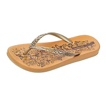 Ipanema Nature Womens Flip Flops / Sandals - Orange and Gold