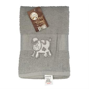 Country Club Pet Towel 60x120cm Grey Dog