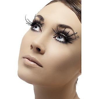Eyelashes artificial eyelashes feather black