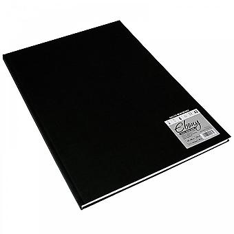 Daler Rowney Hard Back Ebony Bound Sketch Pad White Pages A3