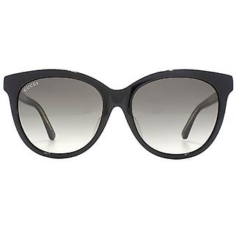 Gucci Classic Logo Round Sunglasses In Black
