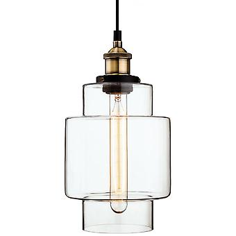 Firstlight Antique Quirky Clear Glass Jar Ceiling Pendant