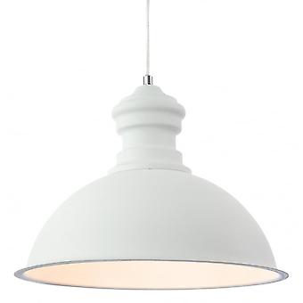 Firstlight Modern White Rough Sand Dome Shade Ceiling Pendant Light Fitting