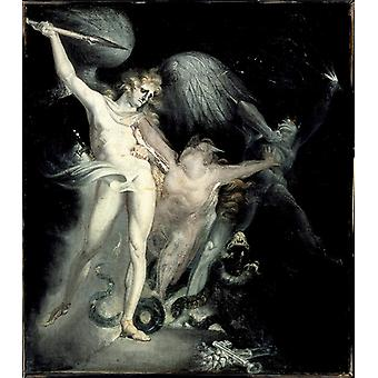 Henry Fuseli - Satan and Death with Sin Intervening Poster Print Giclee