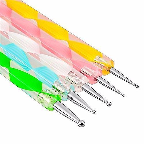 Boolavard® 20pc Nail Art Manicure Pedicure Beauty Painting Polish Brush and Dotting Pen Tool Set for Natural, False,