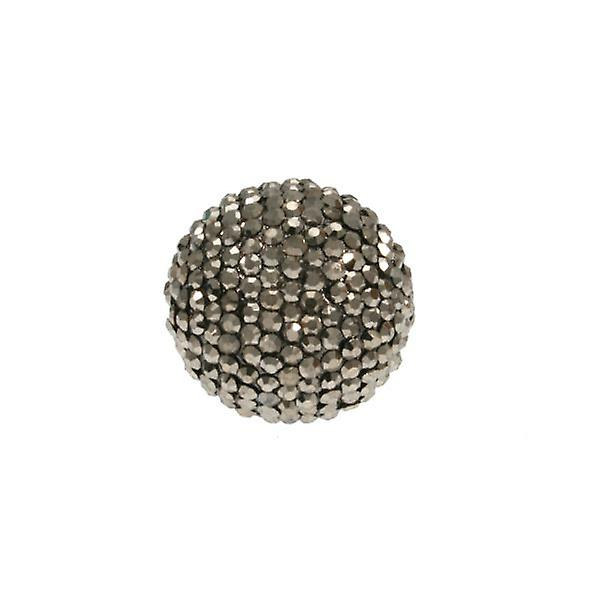 W.A.T svart AB mousserande Crystal Ball Ring