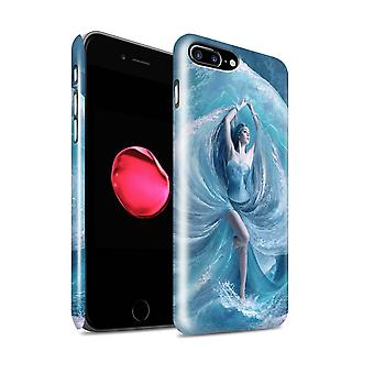 Official Elena Dudina Phone Case / Gloss Hard Back Snap-On Cover for Apple iPhone 7 Plus / Sea Dress Design / Fantasy Angel Collection