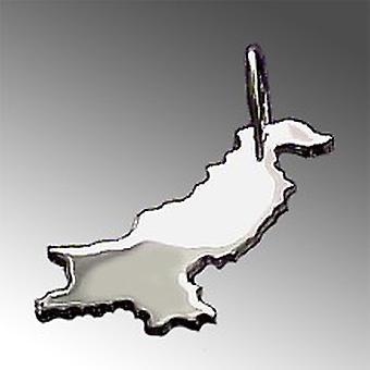 Trailer map PAKISTAN pendant in solid 925 Silver
