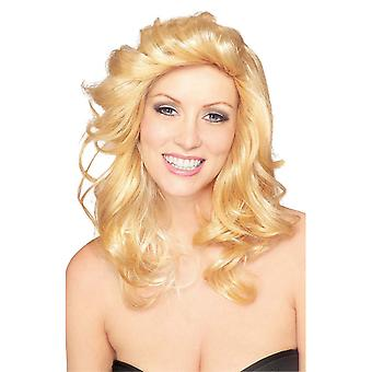 70s Angel Disco Farrah Fawcett Blonde Women Costume Wig