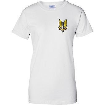 SAS Special Air Service Logo Insignia - Ladies Chest Design T-Shirt