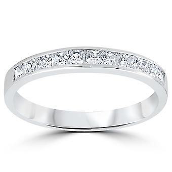 3/8ct Princess Cut Diamond Wedding Anniversary Ring 14K