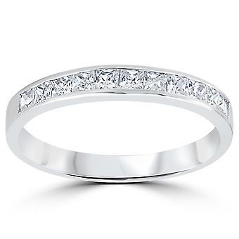 3 / 8ct Princess Cut Diamond giftering jubileum 14K