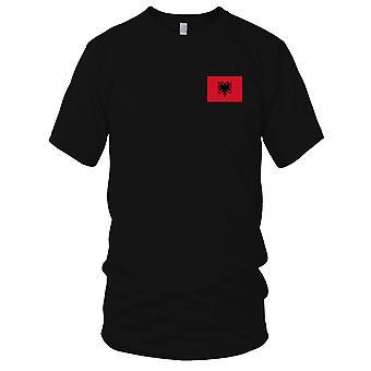Albania Albanian Country National Flag - Embroidered Logo - 100% Cotton T-Shirt Mens T Shirt