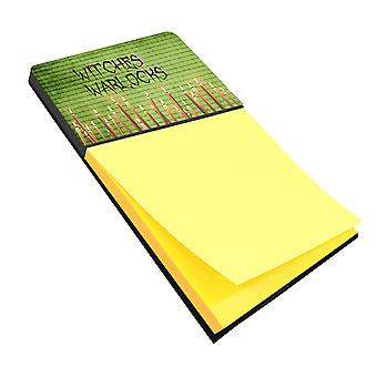 Witches and Warlocks Halloween Refiillable Sticky Note Holder or Postit Note Dis