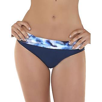 Seaspray 05-1350 Women's Casablanca Blue and Beige Storm Print Bikini Bottom