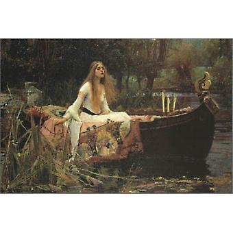The Lady of Shalott affisch Skriv av John William Waterhouse (36 x 24)