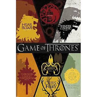 Game Of Thrones Sigils Poster Poster Print