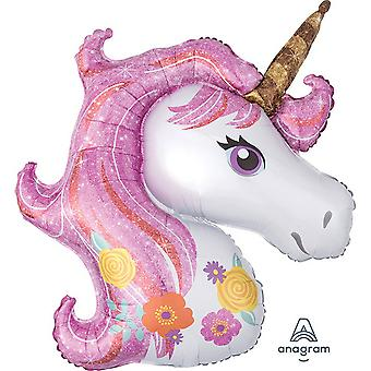 Anagram Supershape Magical Unicorn Balloon
