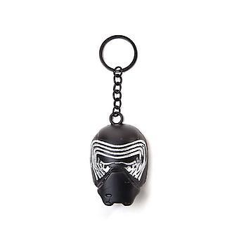 Star Wars The Force Awakens Kylo Ren Mask 3D Pendant Metal Keychain Keyring